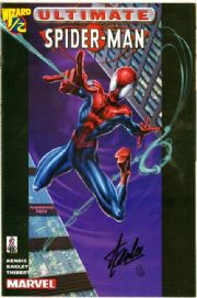 Ultimate Spider-man Wizard #1/2 Dynamic Forces Signed Stan Lee DF COA Ltd 99 Marvel comic book
